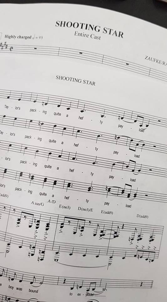 "A page from the score of ""Shooting Star."" (Photo: Private)"