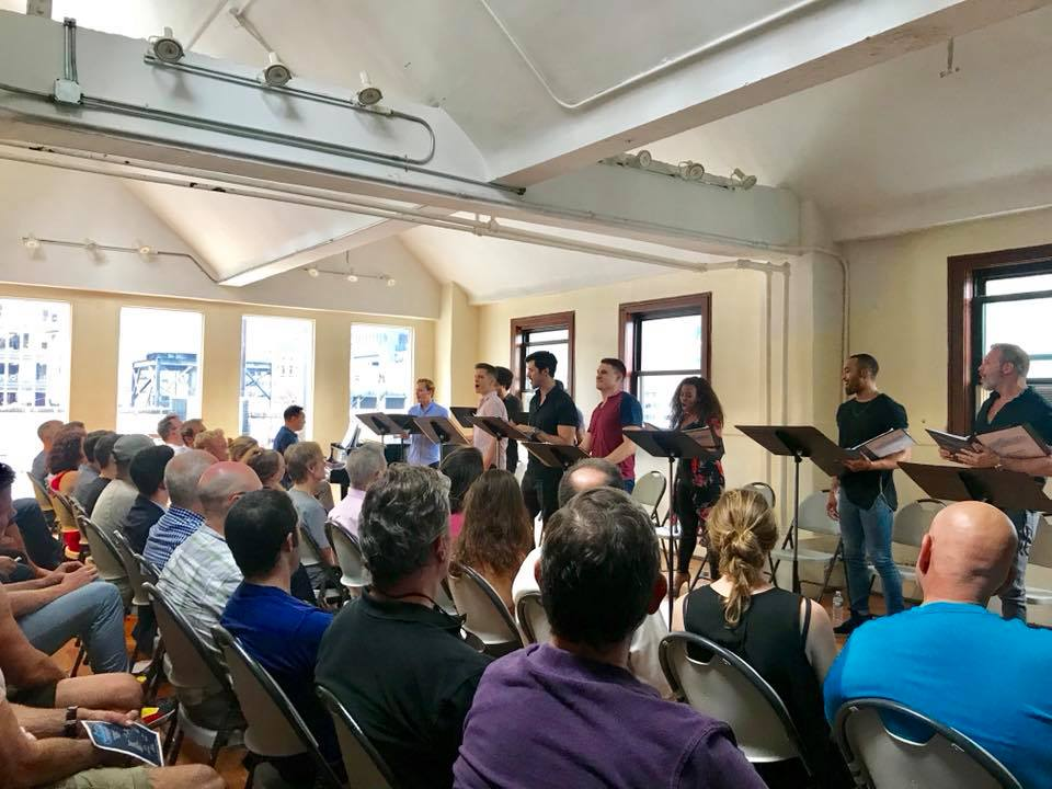 "The industry reading of ""Shooting Star"" with an enthusiastic audience. (Photo: Private)"
