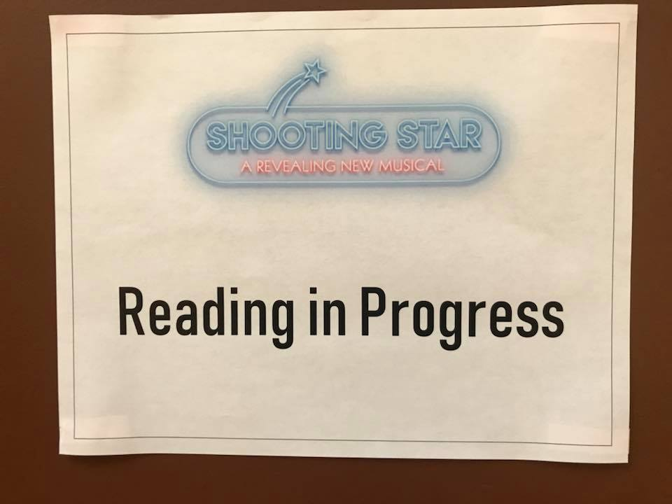 "Sign at the door for the ""Shooting Star"" reading in New York, 2018. (Photo: Private)"