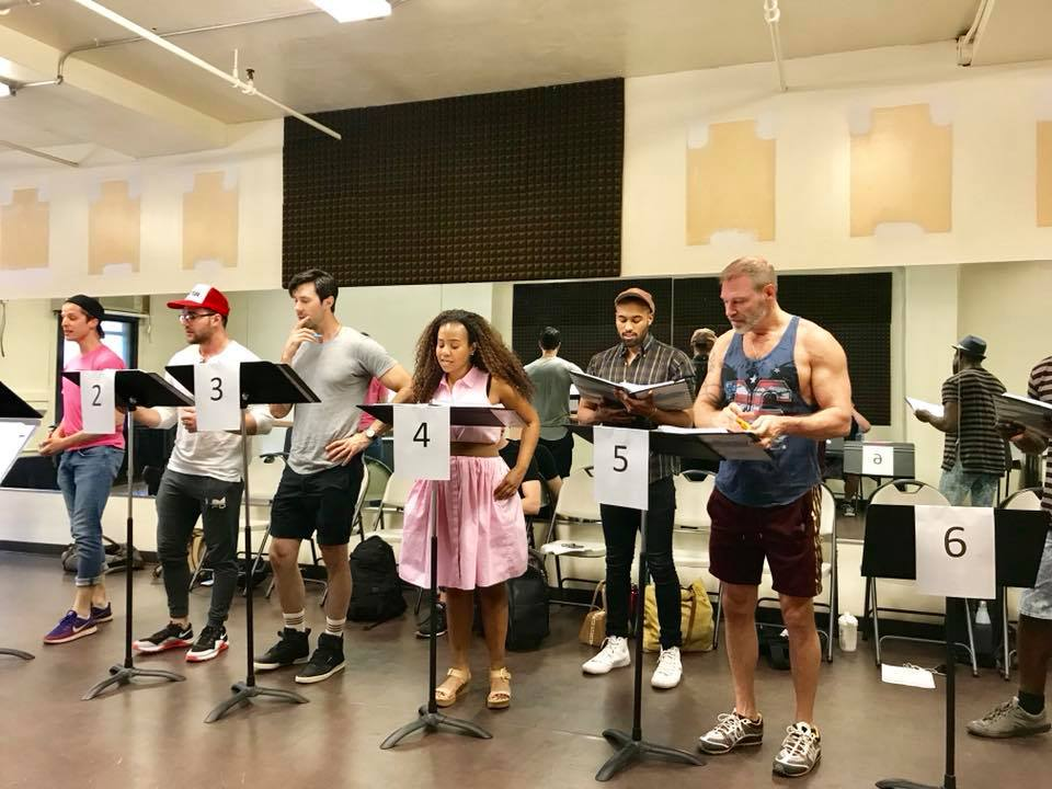"The cast of ""Shooting Star"" during rehearsals for the industry reading in NYC, 2018. (Photo: Private)"