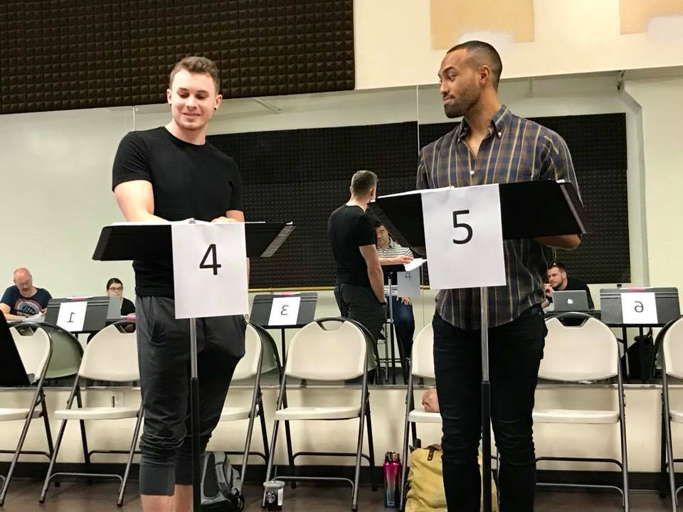 "The romantic leads in ""Shooting Star"" during rehearsals for the industry reading, 2018. (Photo: Private)"