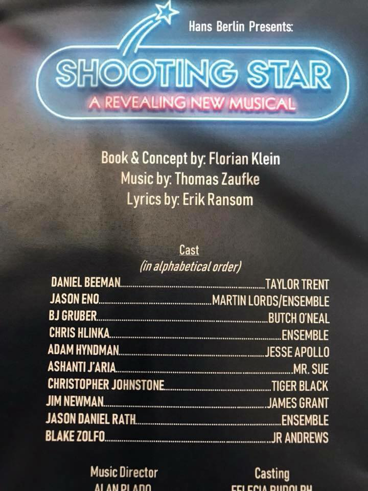 "The 2018 cast for ""Shooting Star"" presented by Hans Berlin. (Photo: Private)"