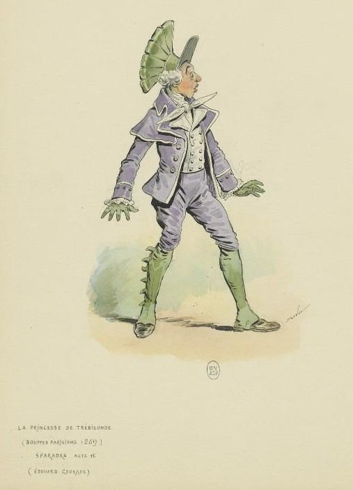 "Costume for Sparadrap in ""La Princesse de Trébizonde"" by Draner."
