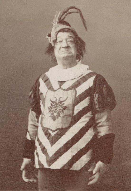 "Joseph Kelm in costume; he played Sancho Pança in Hervé's ""Don Quichotte."" It's considered by some to be the first ""operetta."""