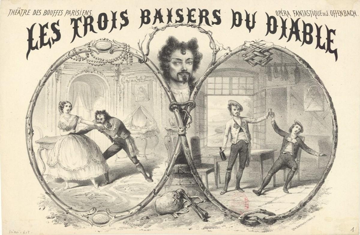 """The Grand quadrille fantastique from Offenbach's opéra fantastique """"Les trois Baisers du Diable,"""" 1857 edition."""
