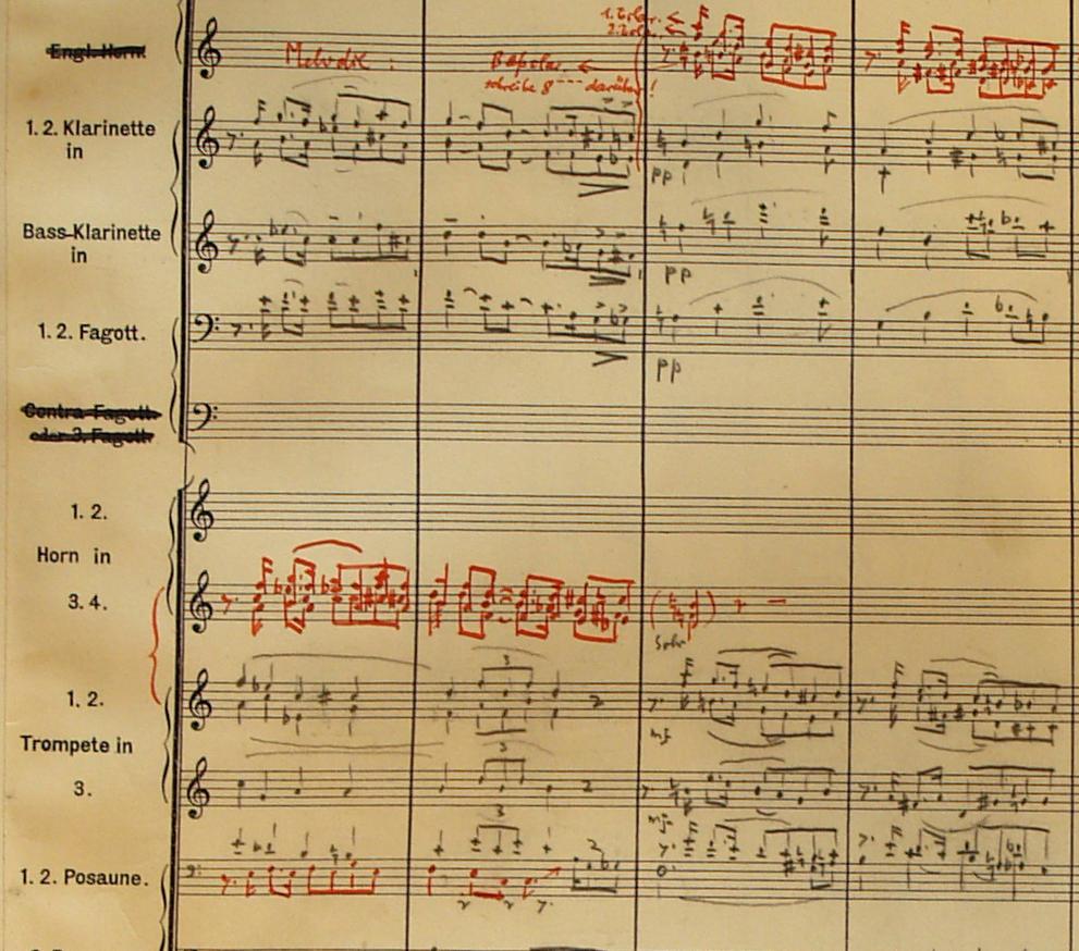 Eine Partiturseite von Paul Abraham. (Foto: Opernhaus Blog Dortmund)