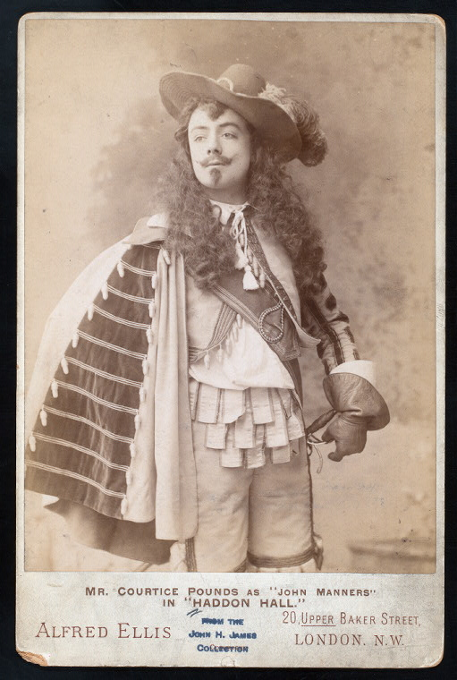 "Courtice Pounds as John Manners in ""Haddon Hall,"" 1892. This publicity photo was probably a work for hire published by the D'Oyly Carte Opera Company."