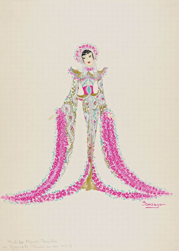 "Costume design for Michiko Meinl in Paul Abraham's ""Dschainah"". (Photo: Österreichisches Theatermuseum / Kunsthistorisches Museum)"