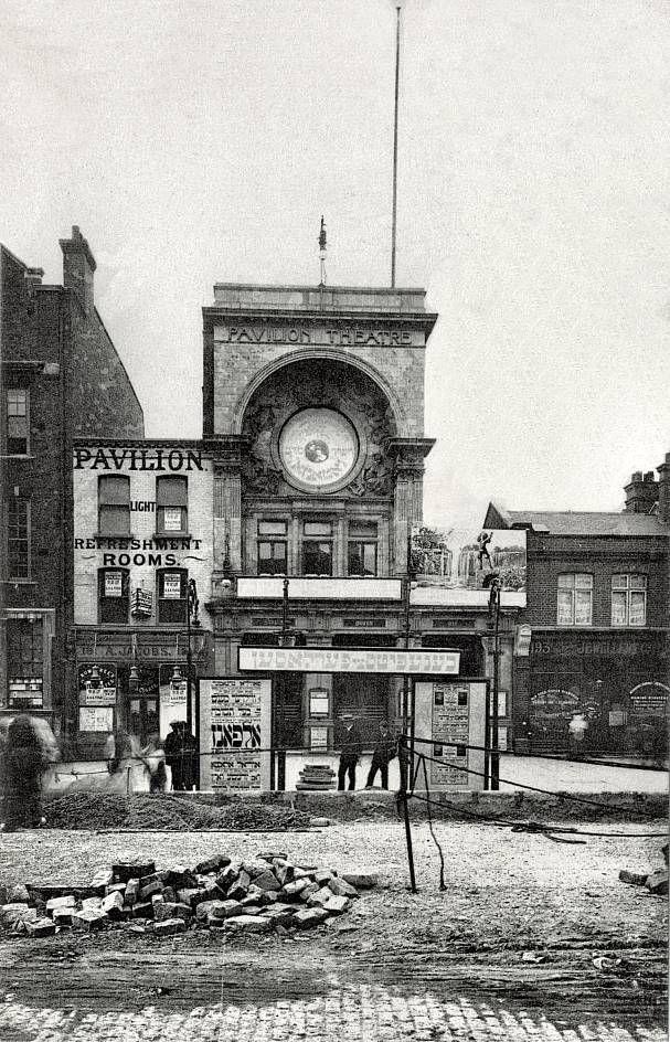 The Pavilion Theatre on Whitechapel Road, around 1900.