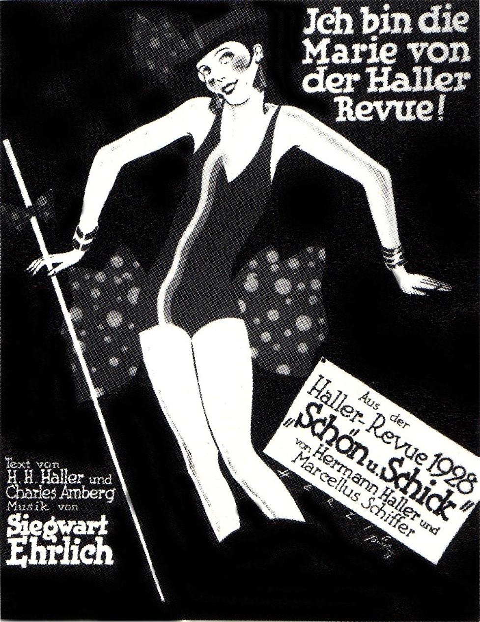 """Sheet music cover for the song """"Ich bin die Marie von der Haller Revue."""" (Photo: Archive Operetta Research Center)"""