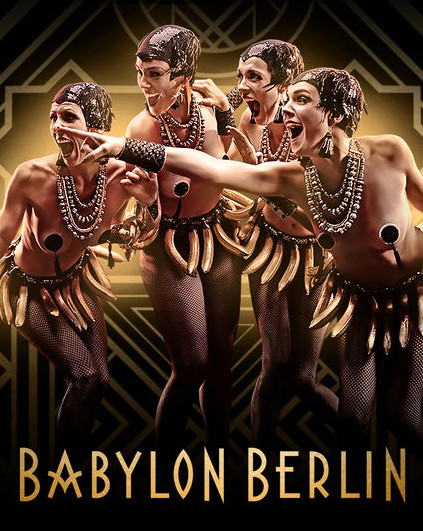 "Advertisment for ""Berlin Babylon"", which is also shown on Netflix."