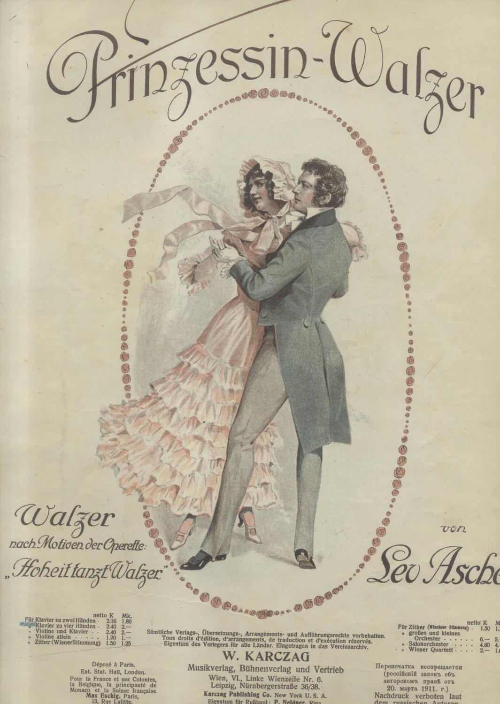 """Sheet music for Leo Ascher's """"Hoheit tanzt Walzer."""""""