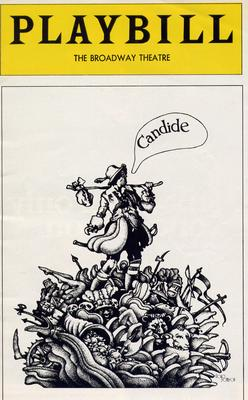 "Playbill for the 1974 version of Leonard Bernstein's ""Candide,"" directed by Harold Prince."