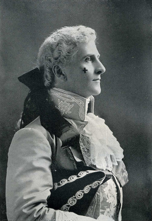 "Hayden Coffin as Harry Sherwood in Cellier's ""Dorothy,"" 1889. (Photo: Hayden Coffin's Book / Alston Rivers, London 1930)"