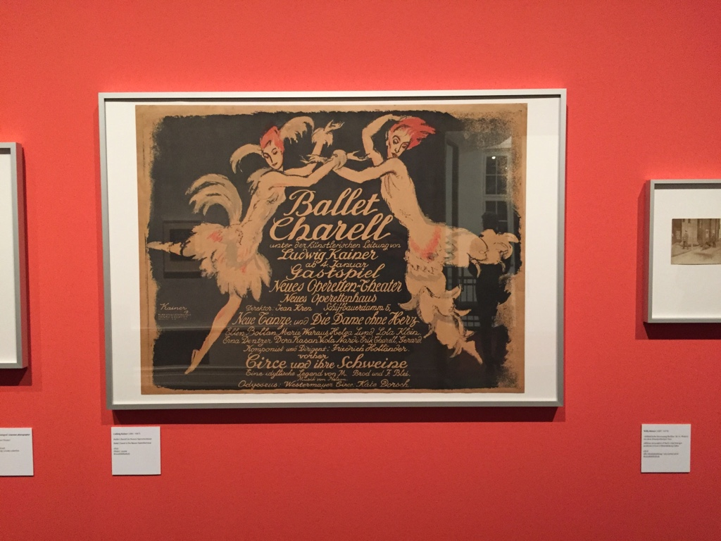 "The 1918 poster for the Ballet Charell, designed by Ludwig Kainer. Seen in the exhibition ""Berlin in der Revolution 1918/1919."""
