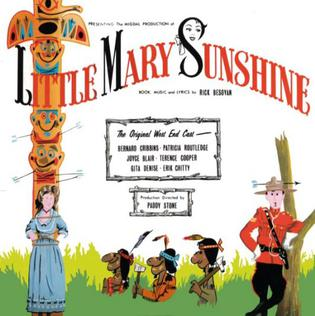 "Cover of the London cast recording of ""Little Mary Sunshine"" with its homage to ""Rose-Marie"" and the ""Totem Tom Tom."""
