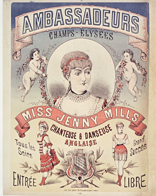 "Sheet music cover showing ""Miss Jenny Mills."" (Photo: Archive Kurt Gänzl)"