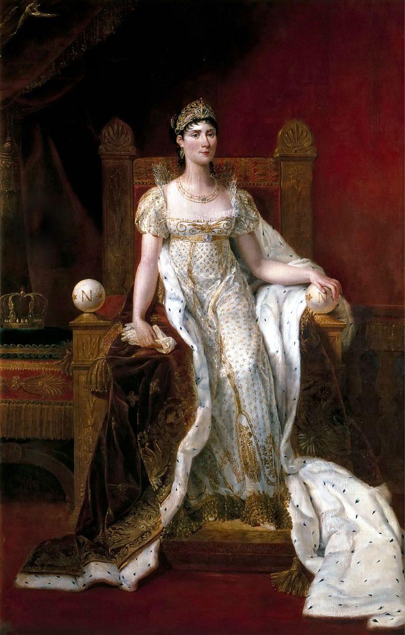 Joséphine de Beauharnais, painted by Guillaume Guillon-Lethière.