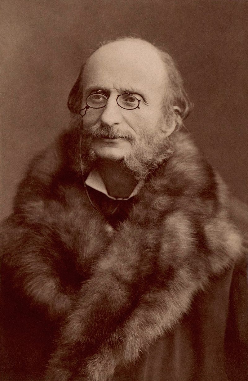 Jacques Offenbach photographed by Nadar in the 1860s.