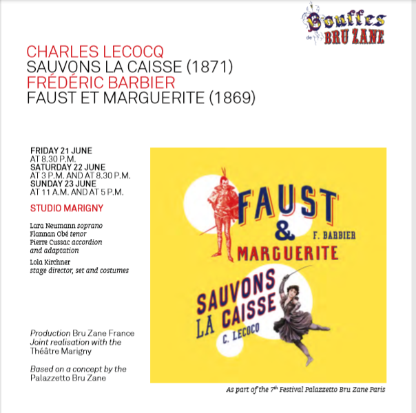 "Advertisment for ""Faust and Marguerite""."