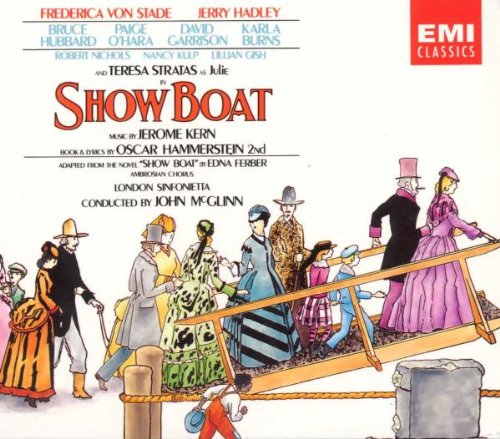 "Cover for the 1988 ""Show Boat"" recording conducted by John McGlinn, released by EMI."