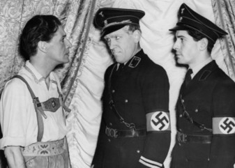 "A scene from ""The Dancing Years"" with the soldiers arresting Rudi Kleber wearing swastika arm bands. (Photo: Archive David Slattery-Christy)"