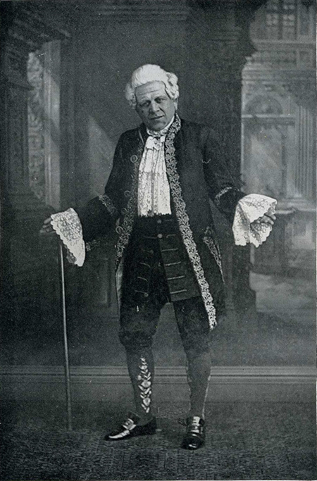 """Furneaux Cook as """"Squire Bantam"""" in Cellier's """"Dorothy"""". (Photo from H. Coffin, """"Hayden Coffin's Book,"""" London 1930)"""