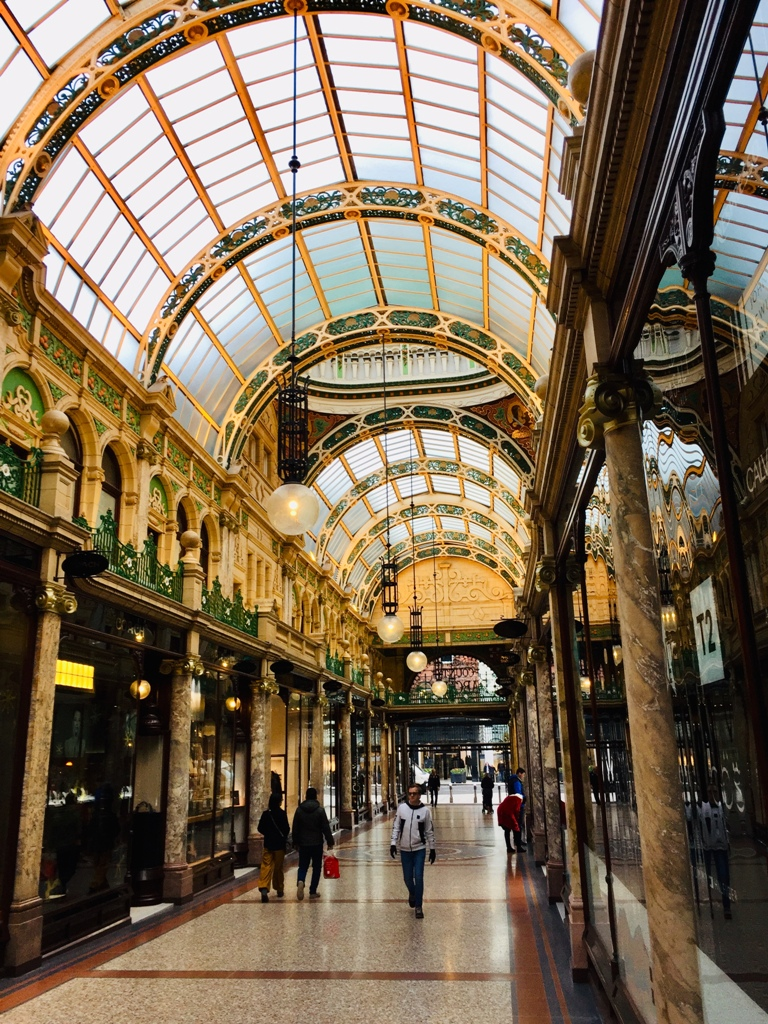 One of the many historic arcades in Leeds city center. (Photo: Private)
