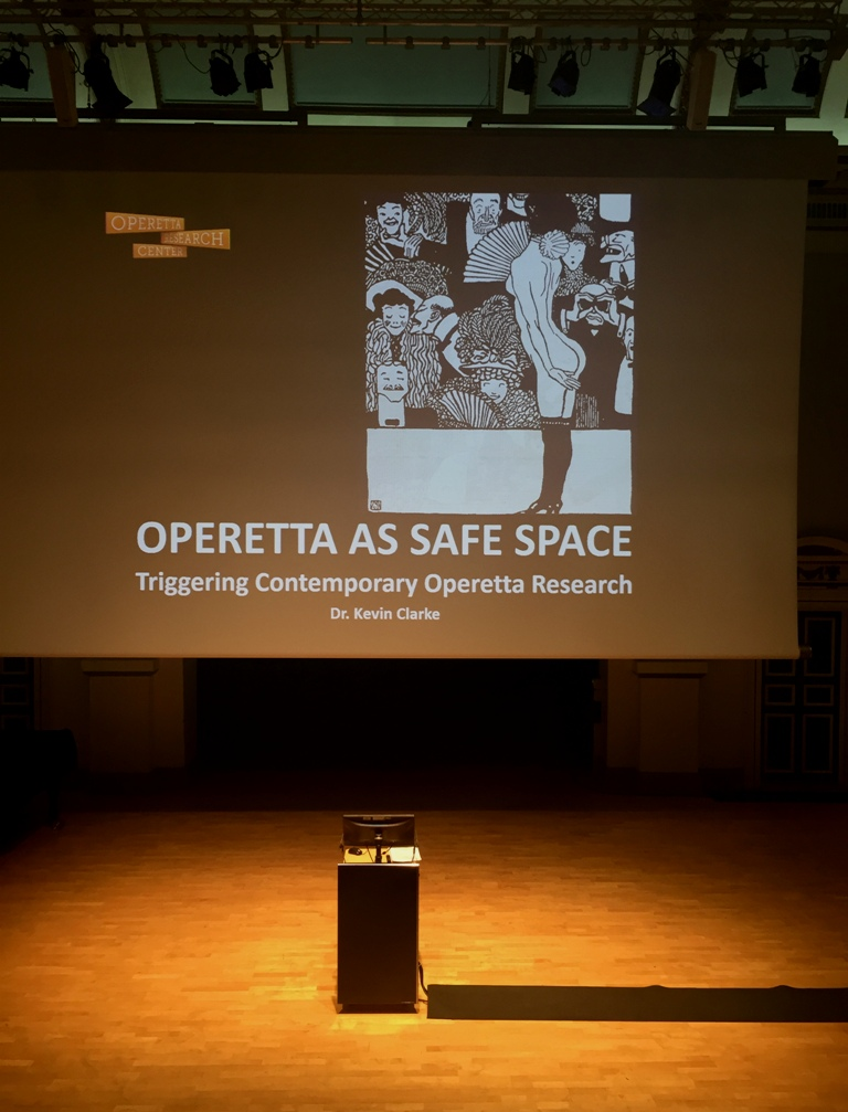 "The presentation ""Operetta as Safe Space"" at Clothworkers' Centenary Concert Hall. (Photo: Private)"