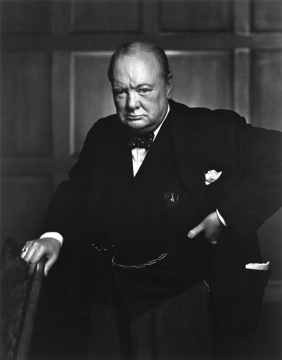 Winston Churchill in the Canadian Parliament, 30 December 1941. (Photo: Yousuf Karsh)