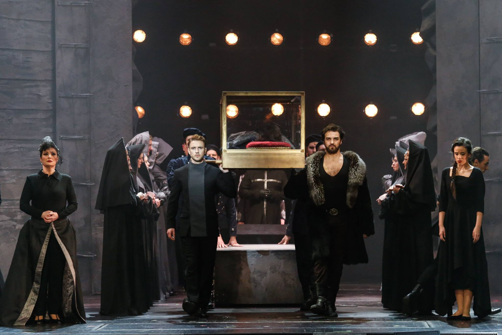 "Scene from the new production of ""István, a király,"" 2019. (Photo: Budapest Operetta Theater)"