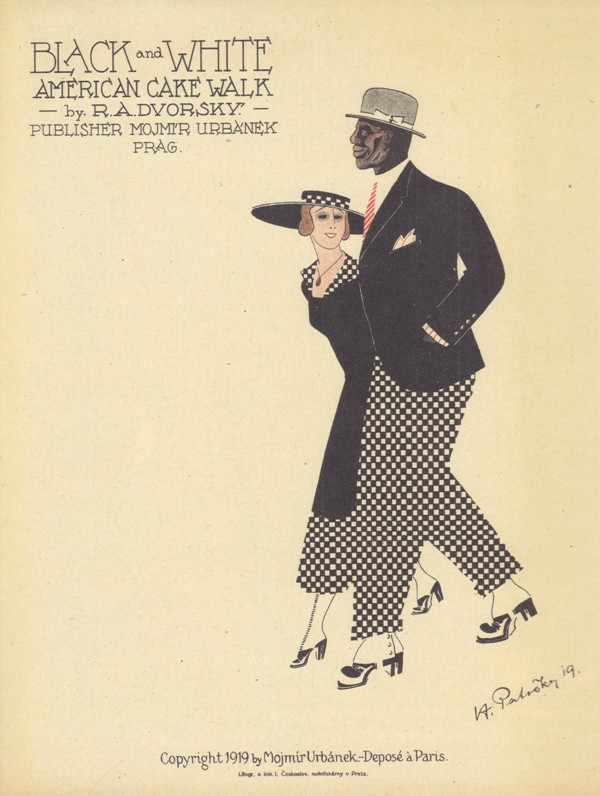"A ""Black and White"" American Cakewalk from 1919, published in Prague. From ""Oh, Donna Clara… Musiktitel aus der Zeit des Art Déco,"" edited by Walter Labhart, 2017 (edition clandestin)"