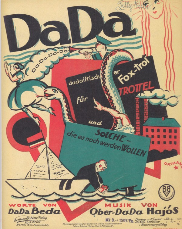 "The ""foxtrott for idiots"" by Fritz Löhner-Beda and Karl Hajós entitled ""DaDa."" From ""Oh, Donna Clara… Musiktitel aus der Zeit des Art Déco,"" edited by Walter Labhart, 2017 (edition clandestin)"