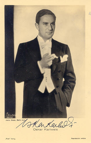 The actor Oskar Karlweis in 1929.