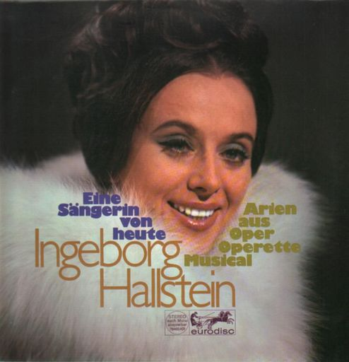 A typical Ingeborg Hallstein record cover from the 1970s.