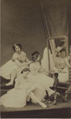Opéra coryphees Nane Danfeld, Irene Jousse and Mlle Gambelan.