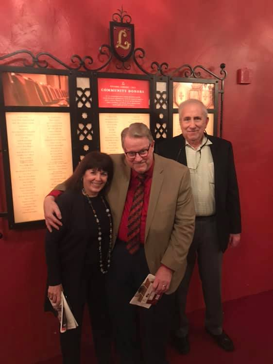 Steven Daigle (middle) with Nan and Michael Miller at the Lobero Theatre, Santa Barbara, CA. (Photo: Private)