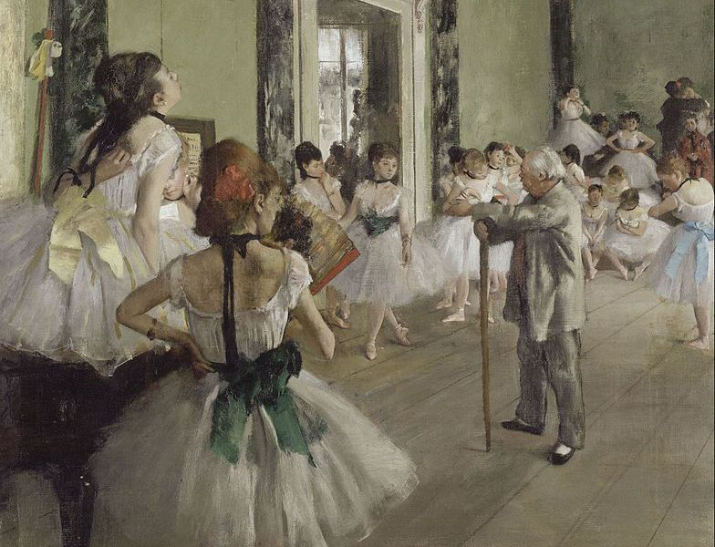 The Dance Class (La Classe de Danse), 1873–1876, oil on canvas, by Edgar Degas.