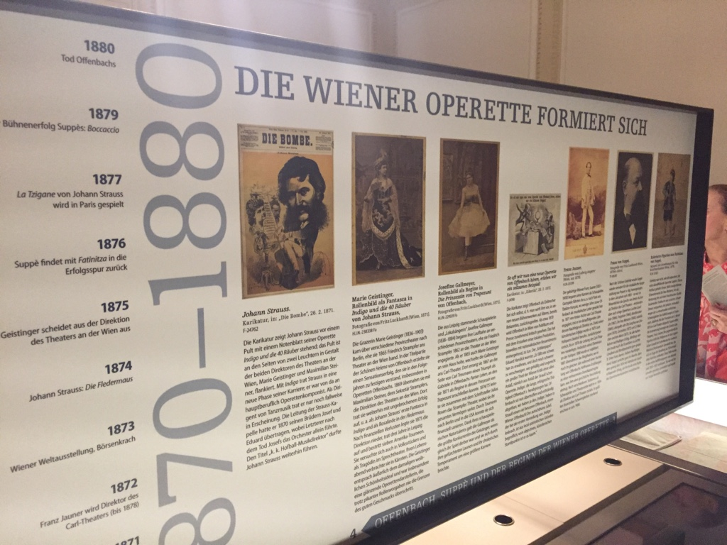 "The exhibition ""Offenbach, Suppé und der Beginn der Wiener Operette"" at Wienbibliothek im Rathaus, Musiksammlung. (Photo: Operetta Research Center)"