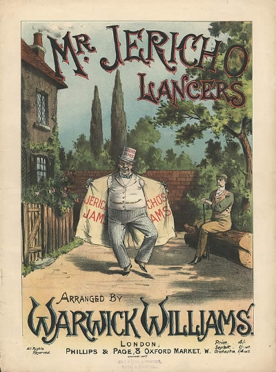 "Sheet music cover for ""Mr. Jericho."""