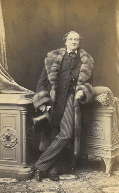 The successful playwright and actor Johann Nestroy in 1860. (Photo: Ludwig Angerer)