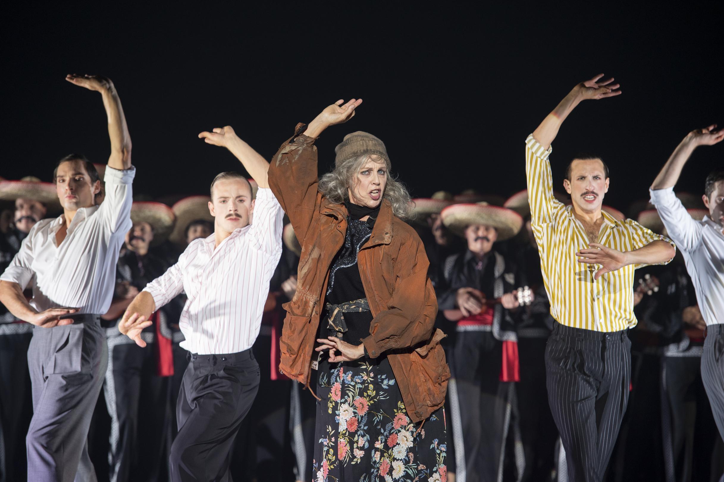 "Anne Sofie von Otter as The Old Lady in Barrie Kosky's ""Candide"" at Komische Oper Berlin. (Photo: Monika Ritterhaus)"