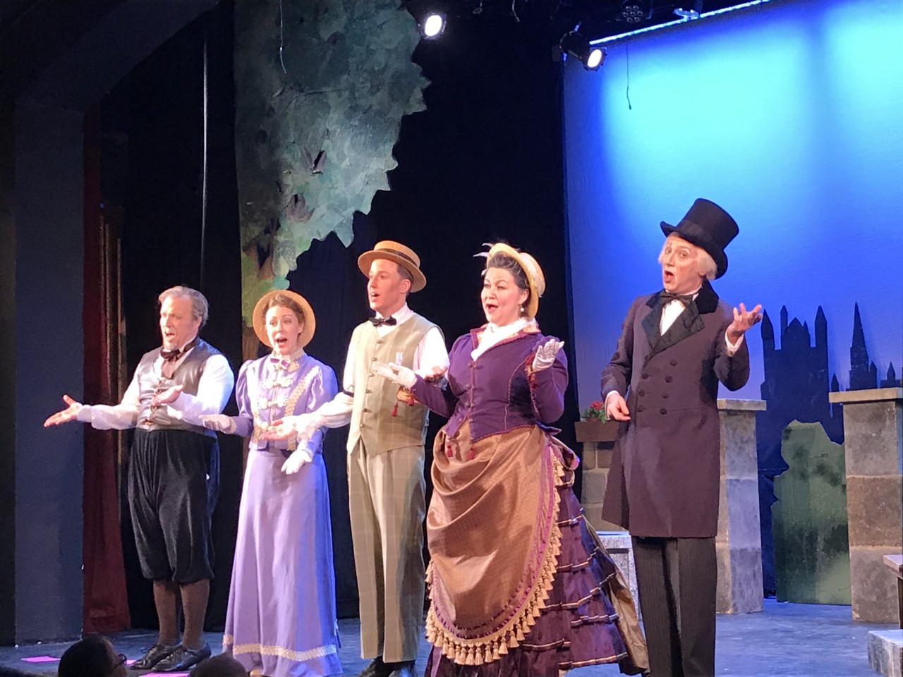 "A curtain call shot after the double bill ""Ages Ago""/""Mr. Jericho"" by the New York Gilbert & Sullivan Players, 2019. (Photo: Harry Forbes)"