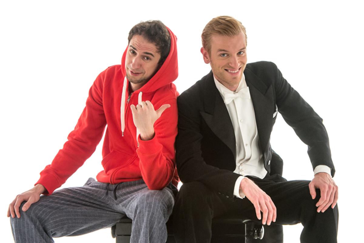 Dominik Wagner (l.) and Benedikt Zeitner, the comedy team Ass-Dur. (Photo: Ottavio Tomasini)