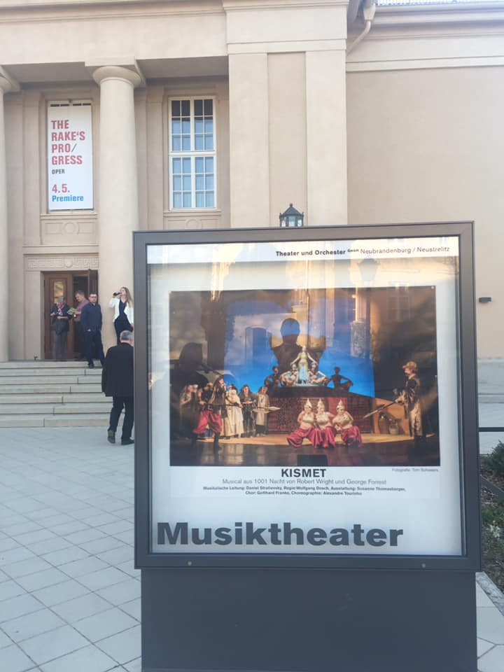 "Advertisment for the 2019 ""Kismet"" production in Neustrelitz. (Photo: Private)"