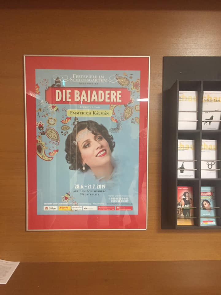 "Poster announcing the 2019 summer production of ""Die Bajadere"" in Neustrelitz. (Photo: Private)"