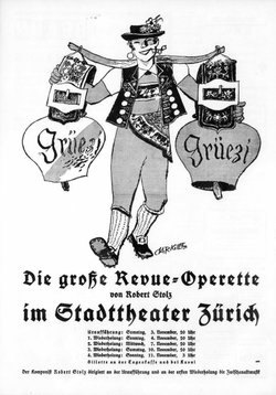 "The original 1934 poster design for ""Grüezi"" by Alois Carigiet. (Photo: Bühne Burgäschi)"