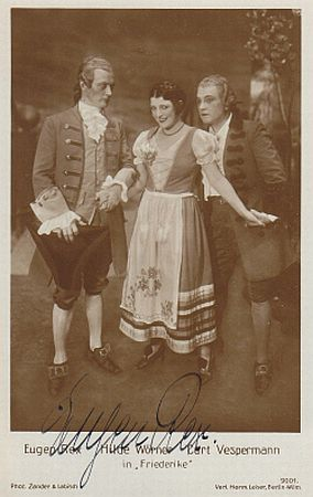 "Eugen Rex (l.) in his later career in ""Friederike."""