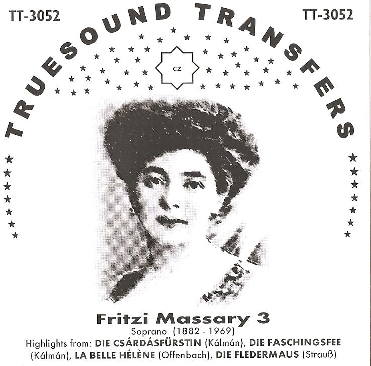 The third part of the Truesound Transfers series of Massary recordings.