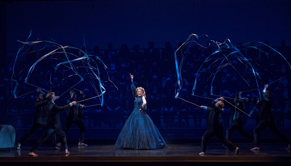 "Victoria Clark, center stage, as Liza during the Glamour Dream in ""Lady in the Dark,"" City Center 2019. (Photo: Richard Termine)"
